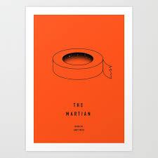 the martian book art print