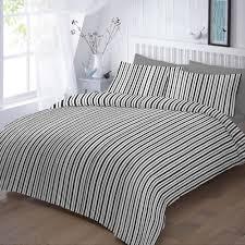 designer duvet cover set black stripes