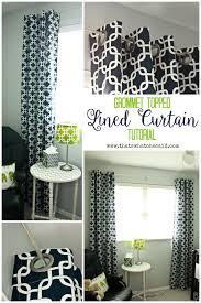 diy lined grommet top curtain panels