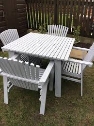 stunning sundero grey wooden garden furniture made in sweden for ikea table and four chairs