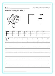 Worksheets Kindergarten T For Letter Writing Math Alphabet ...