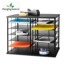 desk organizer 12 slot desktop sorter office supplies storage doent shelf