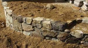 rock wall stone walls garden