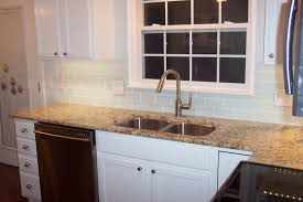 Subway Tiles Kitchen White Glass Subway Tile Compare To Lush Cloud Within Kitchen