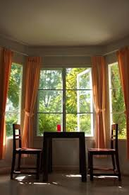 Curtains for Bay Windows Idea 2, Photo Curtains for Bay Windows Idea 2  Close up