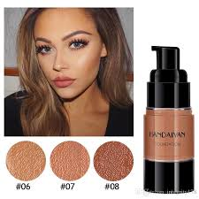 handaiyan dark skin full coverage body liquid foundation makeup bronzer contouring face makeup high invisable pores base maquillage council on foundations