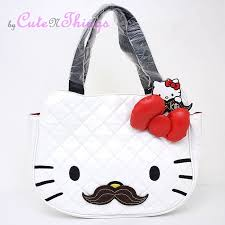 16 best Mustache/hello kitty images on Pinterest | Hello kitty ... & Sanrio Hello Kitty Quilted Face with Mustache Tote bag Loungefly Shoulder  Bag | eBay Adamdwight.com