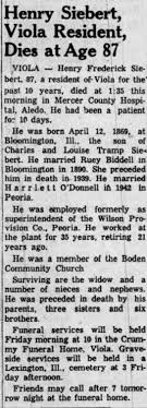 Obituary for Henry Frederick Siebert (Aged 87) - Newspapers.com
