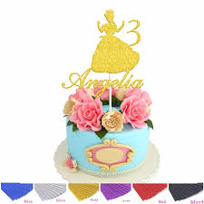 Aliexpresscom Buy Personalised Custom Name Age Princess Cake