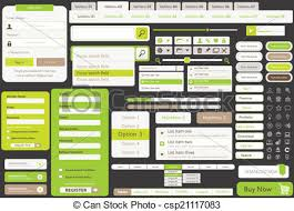 One Page Website Template Classy One Page Website Template Kit Vector Templates For Website Made In
