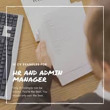 Admin Manager Cv Sample Top 10 Hr And Admin Manager Resume Formats Cv Samples
