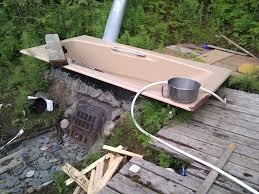 t i n y g o g o jennifer 039 s wood fired outdoor bathtub