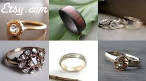 etsy wedding rings. eco friendly rings, wedding, inhabitat green wedding series, etsy rings