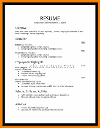 Excellent Decoration Resume For First Job Resume Examples For First