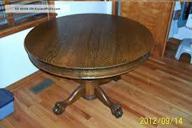 lovely dining table art ideas with additional antique round oak antique tiger striped oak claw foot