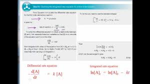 diffeial and integrated rate equations