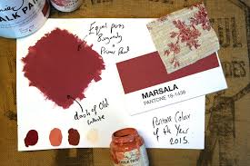 Pantone Colour Of The Year Marsala Inspires New Paint Shade