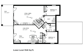 3 bedroom house plans with basement postsimple ranch house plans with basement luxury 54 home