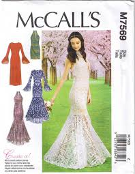 McCalls Pattern M40 Formal Dresses Wedding Gown Trumpet Column Amazing Mccalls Patterns