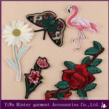 erfly and snake embroidered applique iron on patch design diy sew iron on patch badge embroidery flamingo