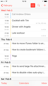 Agenda List How To Display Your Calendar Events As A List View Widget On