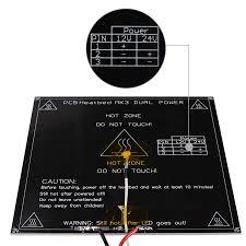 Black MK3 Heatbed <b>214*214</b>*3mm Aluminum Heatbed Dual Power ...