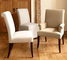 cloth dining chairs. PB Comfort Roll Upholstered Dining Chairs Cloth U