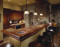 Interior Computer Desk For Modern Home Decor Bar Ideas Man Cave Red Silk Window Curtain Armchair