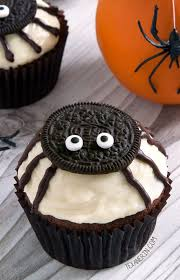 halloween spider cupcakes.  Spider Easy To Make Spider Cupcakes For Halloween With A Pumpkin Cupcake Base And  Cream Cheese Frosting And Spider Cupcakes Texanerin Baking