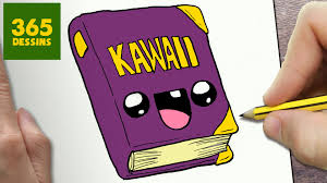 Comment Dessiner Livre Kawaii Tape Par Tape Dessins Kawaii