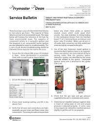 service bulletin com email service frymaster com subject intermittent heat failure in lov ocf filterquick fryers this bulletin replaces bulletin 2012 07