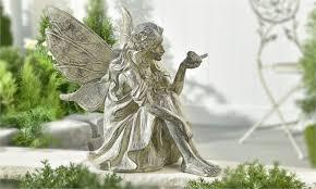 garden fairy statues. Stone Garden Fairies Statues Cement Fairy Statue