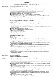 Mobile Resume Mobile Product Manager Resume Samples Velvet Jobs 12