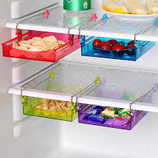 refrigerator storage. multipurpose fridge storage refrigerator organizer sliding drawer space saver shelf