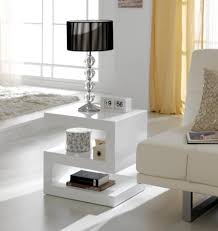 White High Gloss Living Room Furniture Uk Contemporary Side Or Lamp Z Table In White High Gloss