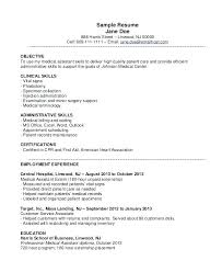 Free Medical Assistant Resume Medical Assistant Resumes Samples ...