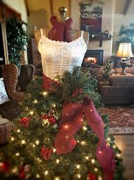 a close up of How to Create a Dress Form Christmas Tree all lite up
