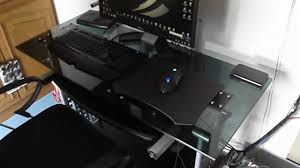 glass pc desk incredible top computer gaming in 11