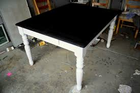 Restaining Kitchen Table Refinished Dining Room Table Grstechus