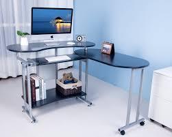 btm folding black computer desk with sliding keyboard large corner pc office desk co uk office s