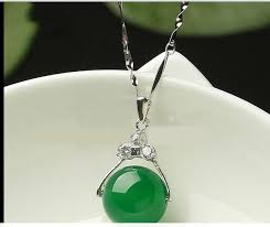 details about 100 natural hand carved chinese green jade pendant insert silver carving