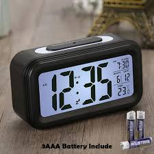 electronic calendar lcd display desk clock timer digital table clocks led alarm clock 3aaa battery operated