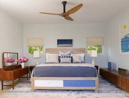 Bedroom   Contemporary Master Bedroom Idea In New York With Blue Walls