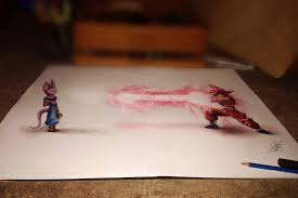 dragonball z battle of the s part1 3d drawing by atcdrawings