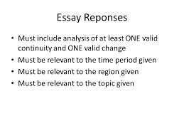 continuity and change over time essay rubric explanation ppt 4 essay