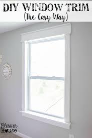 DIY Window Trim The Easy Way - Interior house trim molding