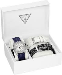 guess watch set womens interchangeable leather straps 38mm u0086l1