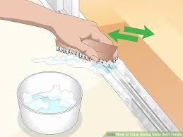 how to clean shower door tracks picture of 3 ways to clean sliding glass door tracks