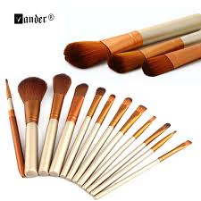 12pcs set professional beauty gold makeup brush kits cosmetics foundation shadow tools liner eye concealer maquiagem