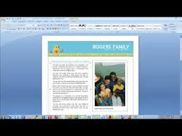 Microsoft Word Newsletter How To Create A Newsletter Using Microsoft Word Video Youtube